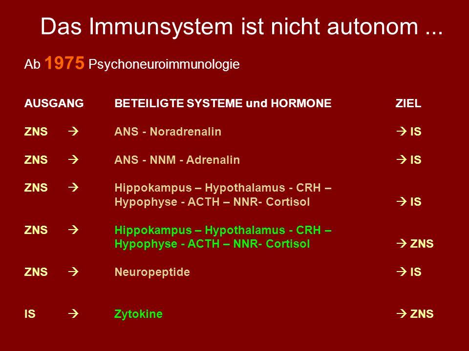 Das Immunsystem ist nicht autonom ...