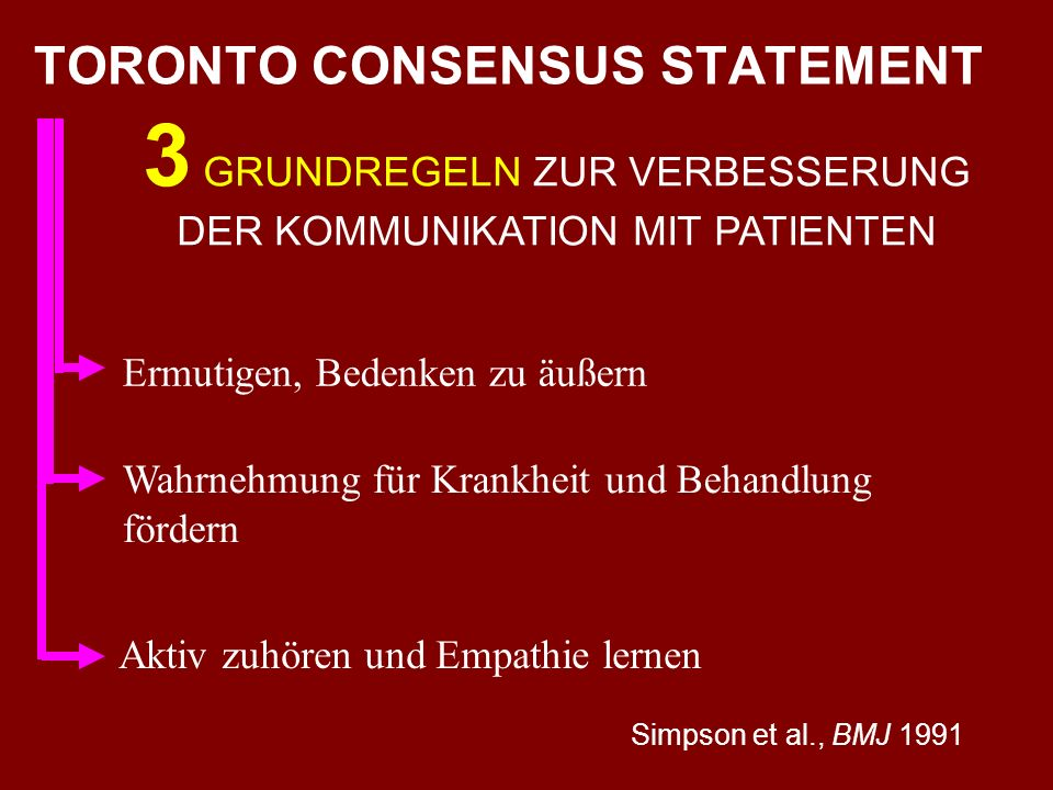 TORONTO CONSENSUS STATEMENT