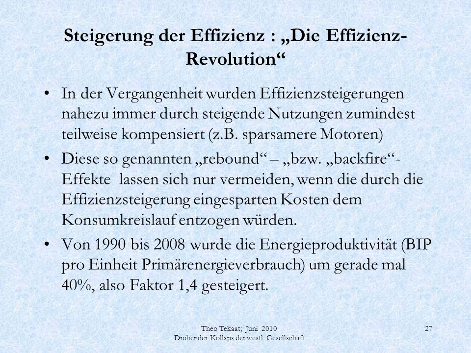 """Steigerung der Effizienz : """"Die Effizienz-Revolution"""