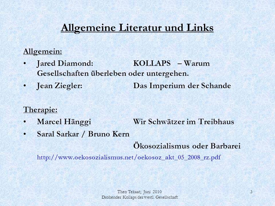 Allgemeine Literatur und Links