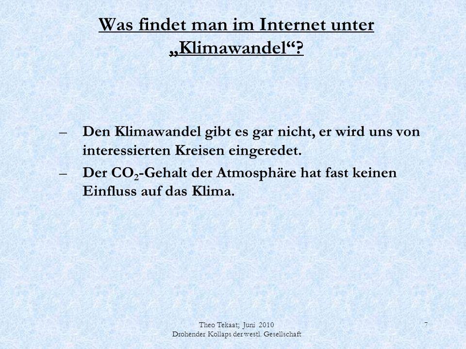 """Was findet man im Internet unter """"Klimawandel"""