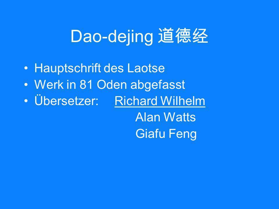 Dao-dejing 道德经 Hauptschrift des Laotse Werk in 81 Oden abgefasst