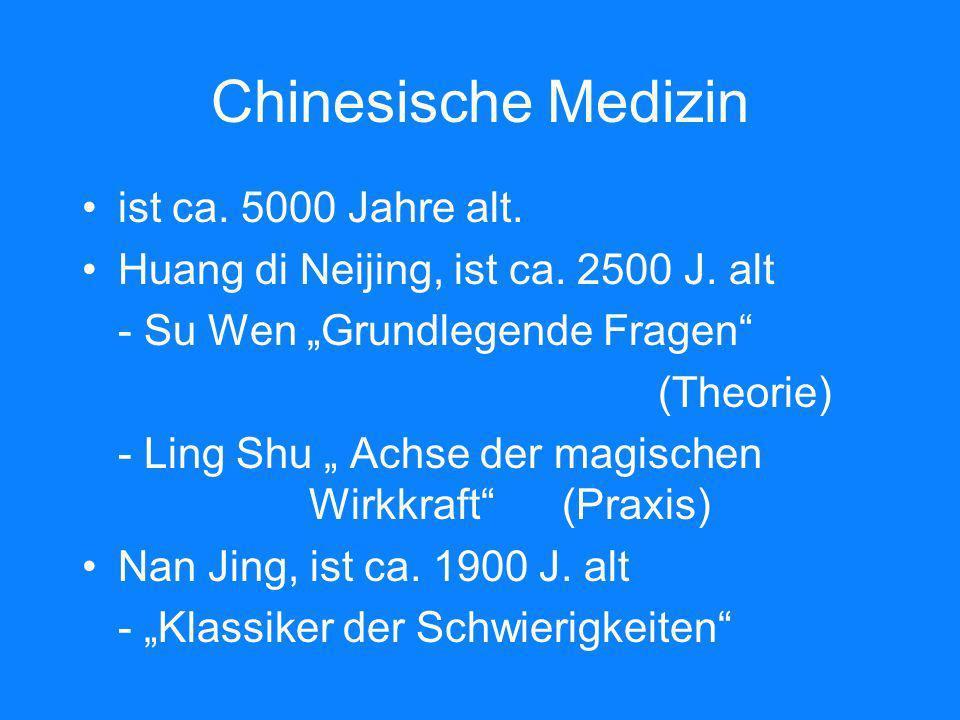 Chinesische Medizin ist ca. 5000 Jahre alt.