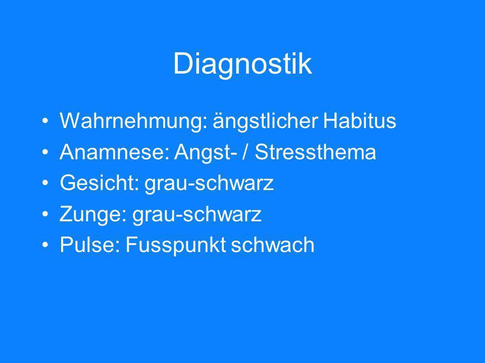 Diagnostik Wahrnehmung: ängstlicher Habitus