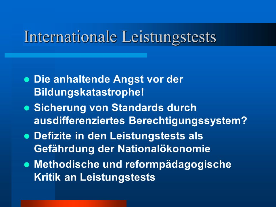 Internationale Leistungstests