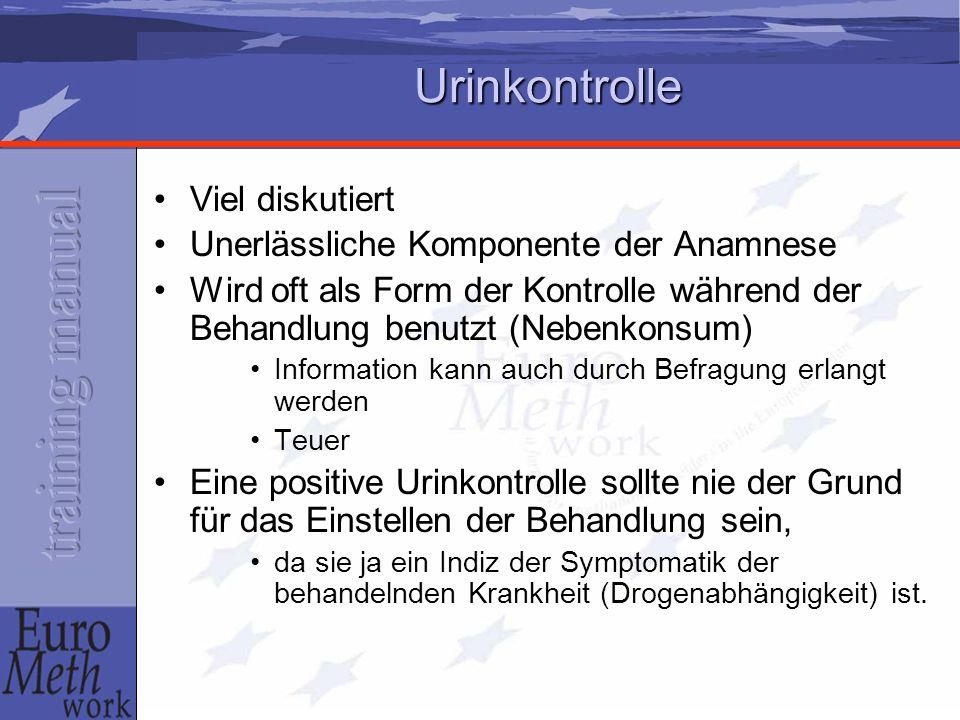 Urinkontrolle Viel diskutiert Unerlässliche Komponente der Anamnese
