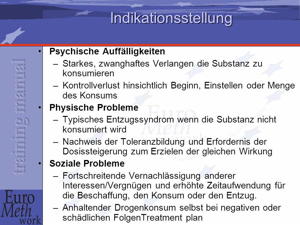 Indikationsstellung Psychische Auffälligkeiten