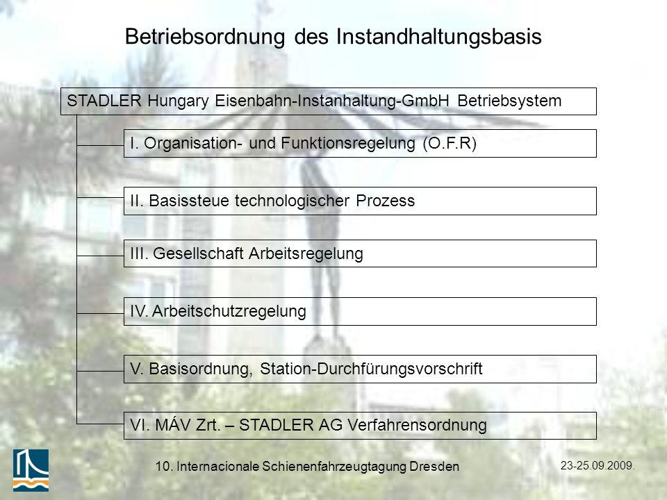 Betriebsordnung des Instandhaltungsbasis