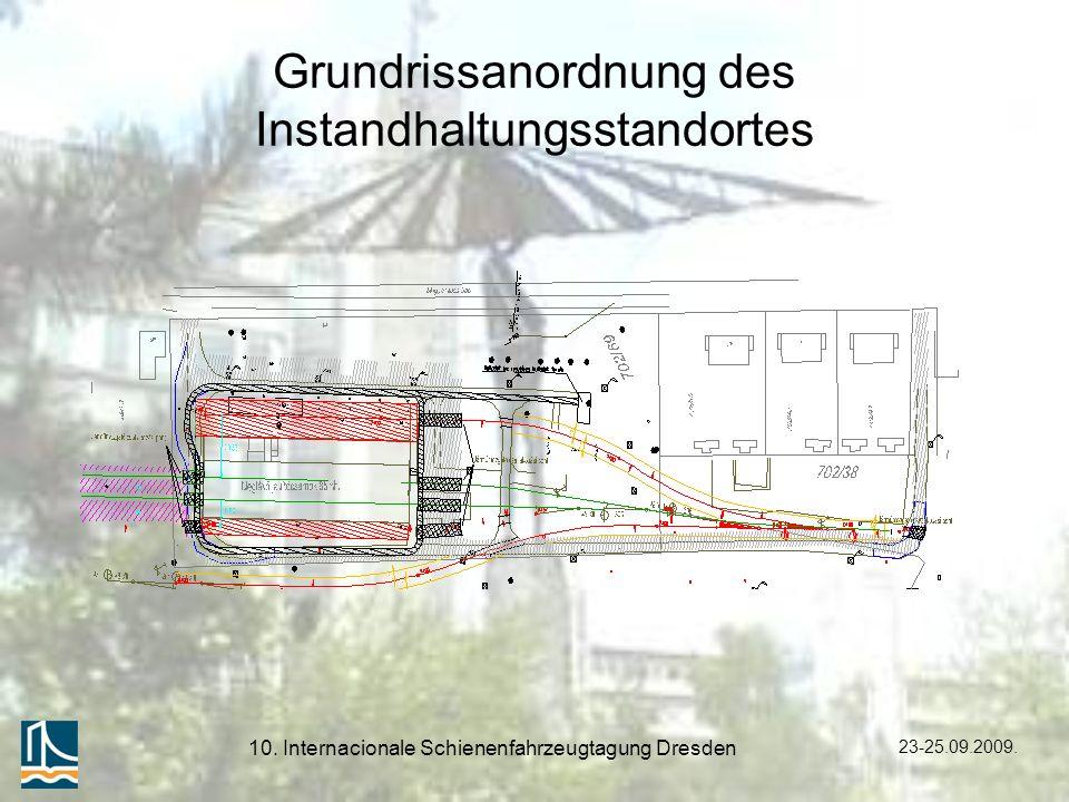 Grundrissanordnung des Instandhaltungsstandortes