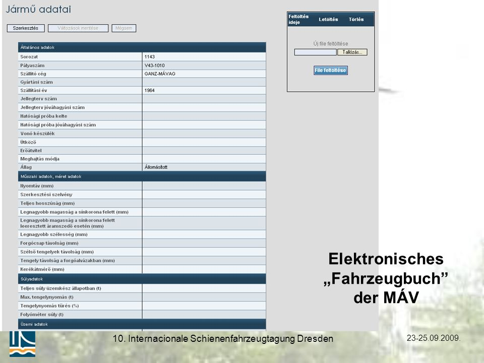 10. Internacionale Schienenfahrzeugtagung Dresden
