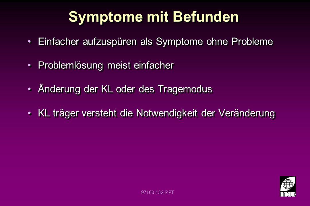 Symptome mit Befunden Einfacher aufzuspüren als Symptome ohne Probleme