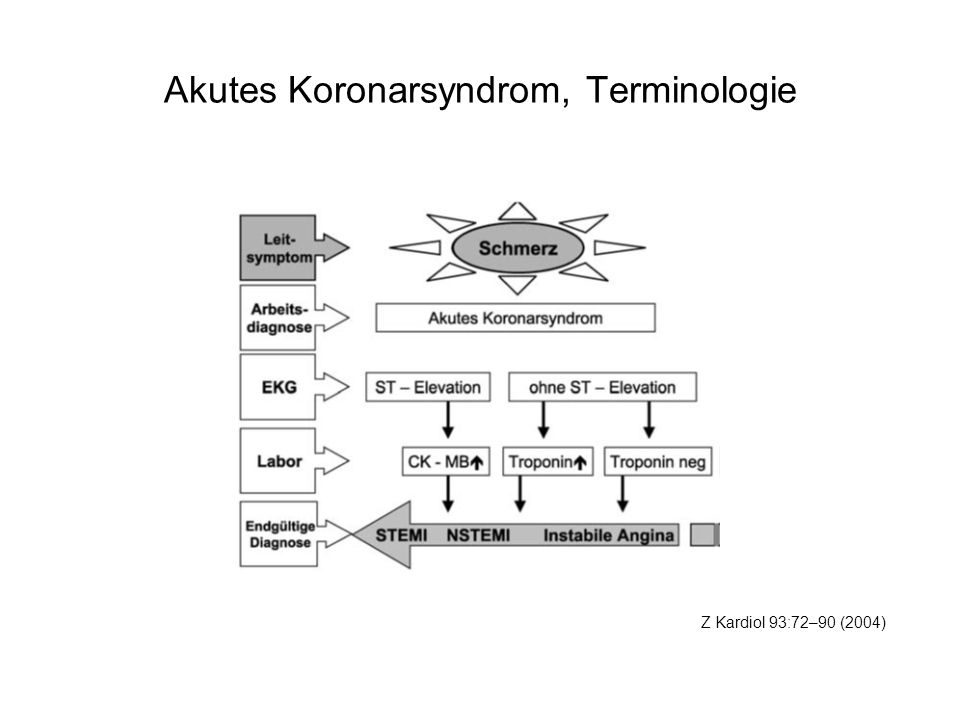 Akutes Koronarsyndrom, Terminologie