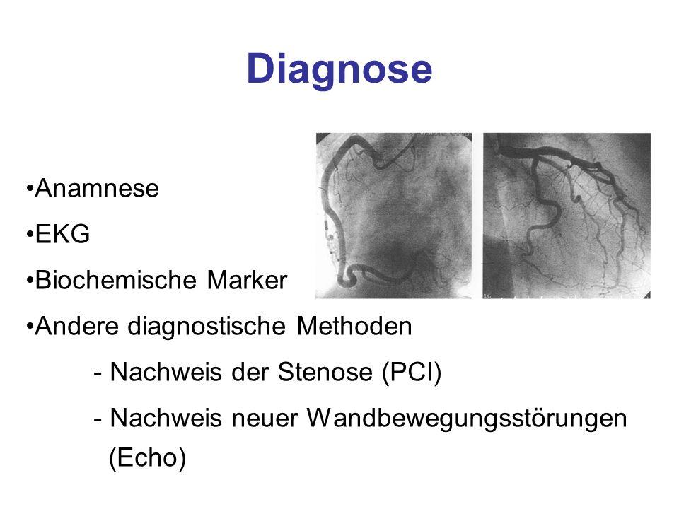 Diagnose Anamnese EKG Biochemische Marker