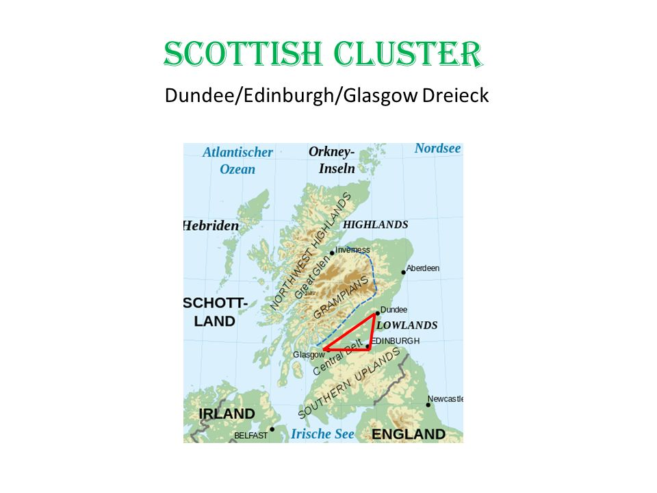 Scottish Cluster Dundee/Edinburgh/Glasgow Dreieck