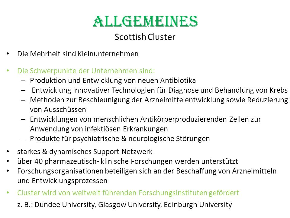 Allgemeines Scottish Cluster