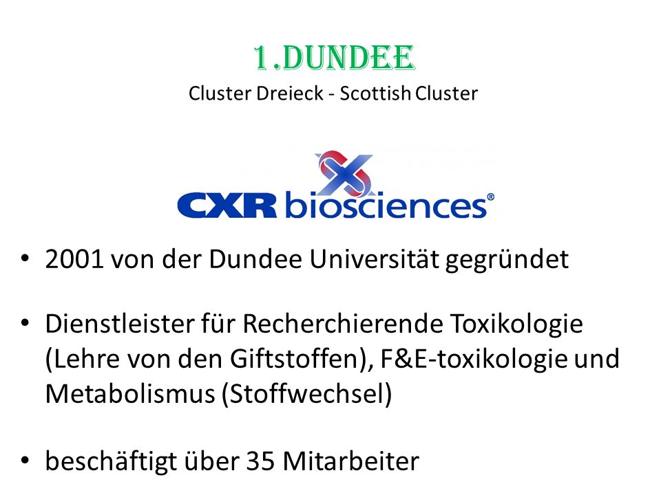 1.Dundee Cluster Dreieck - Scottish Cluster