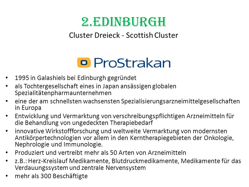 2.Edinburgh Cluster Dreieck - Scottish Cluster