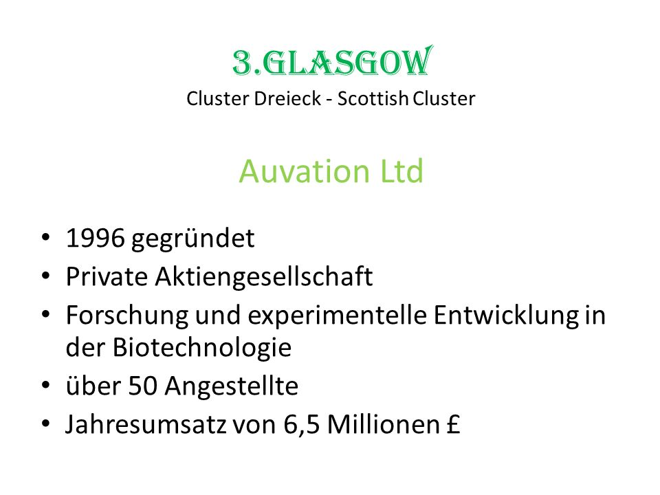 3.Glasgow Cluster Dreieck - Scottish Cluster