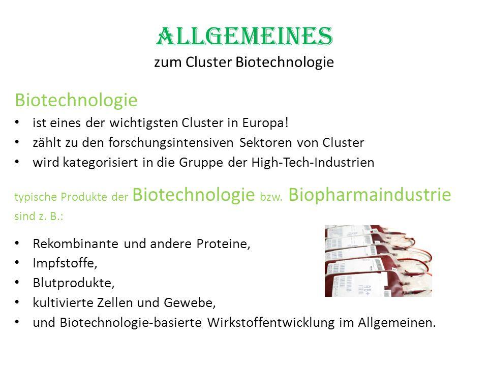 Allgemeines zum Cluster Biotechnologie