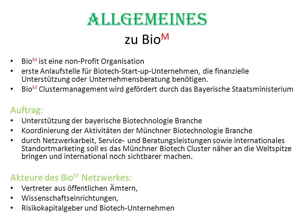 Allgemeines zu BioM Auftrag: Akteure des BioM Netzwerkes: