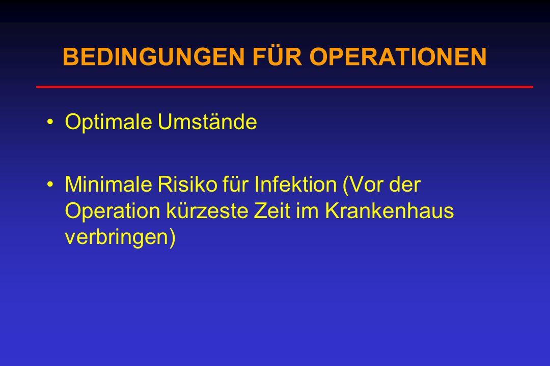 BEDINGUNGEN FÜR OPERATIONEN