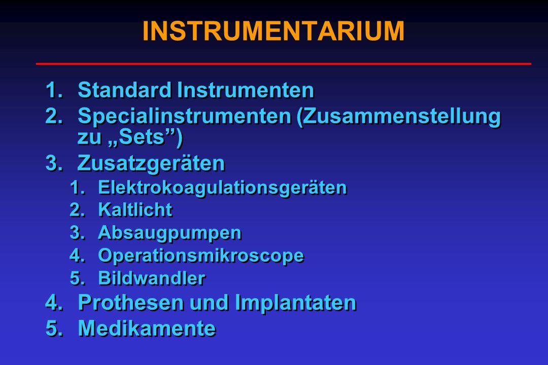 INSTRUMENTARIUM Standard Instrumenten