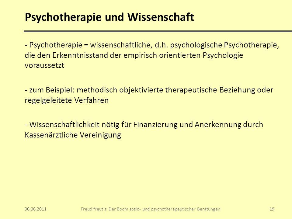 Psychotherapie und Wissenschaft