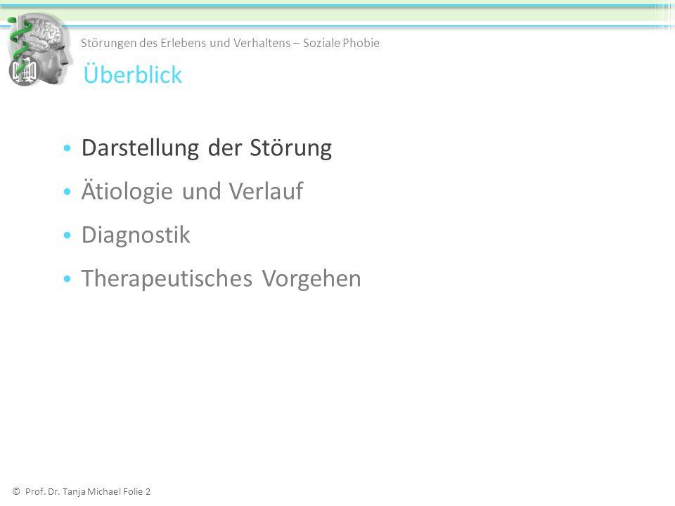 Darstellung der Störung Ätiologie und Verlauf Diagnostik