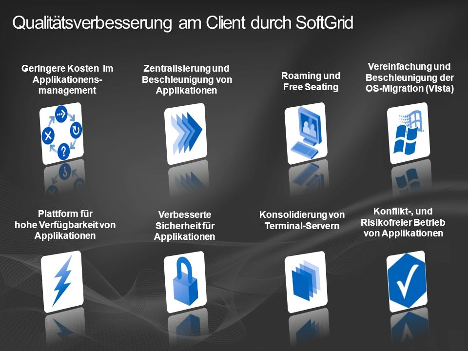 Qualitätsverbesserung am Client durch SoftGrid