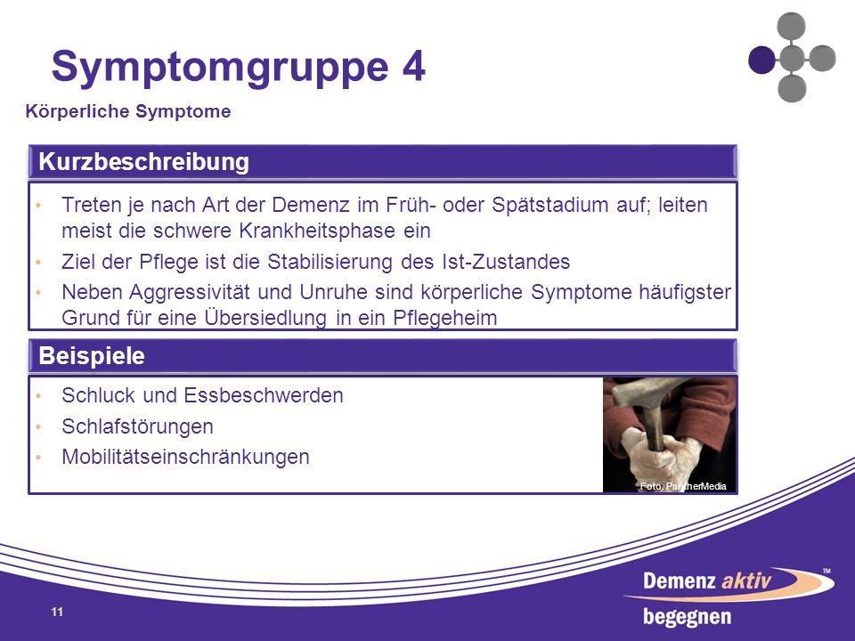 Symptomgruppe 4 Kurzbeschreibung Beispiele