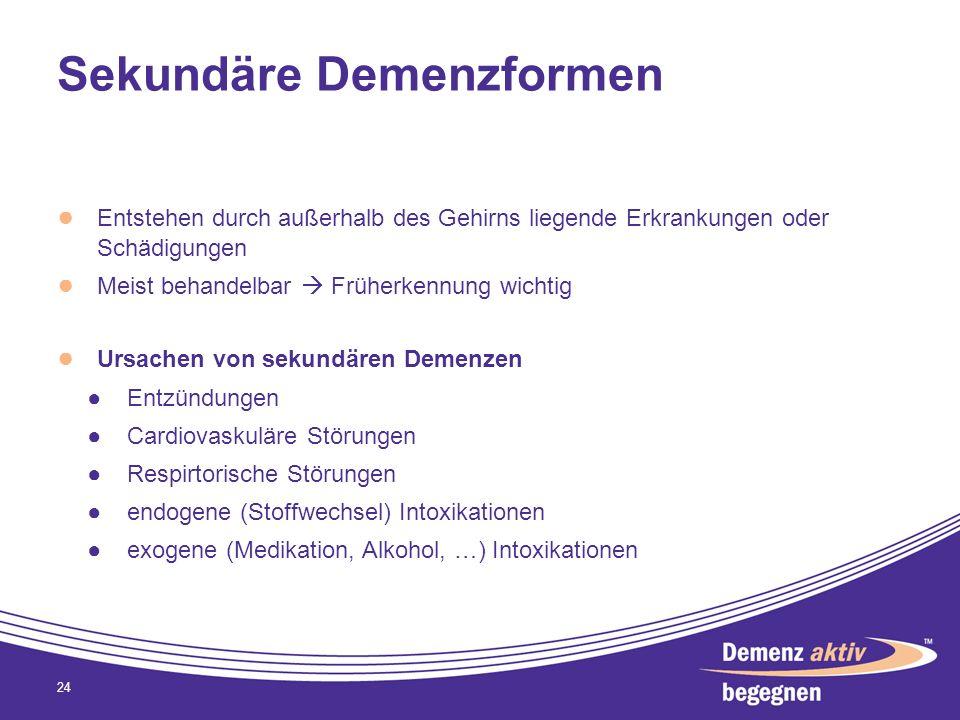 Sekundäre Demenzformen