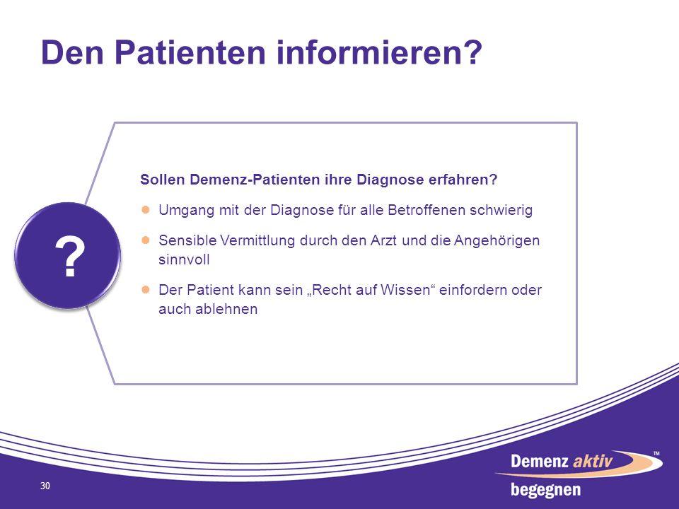 Den Patienten informieren