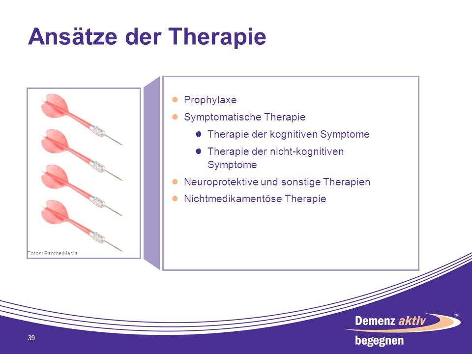 Ansätze der Therapie Prophylaxe Symptomatische Therapie