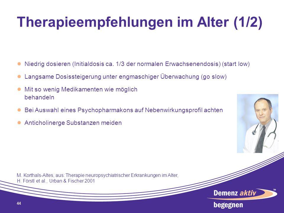 Therapieempfehlungen im Alter (1/2)