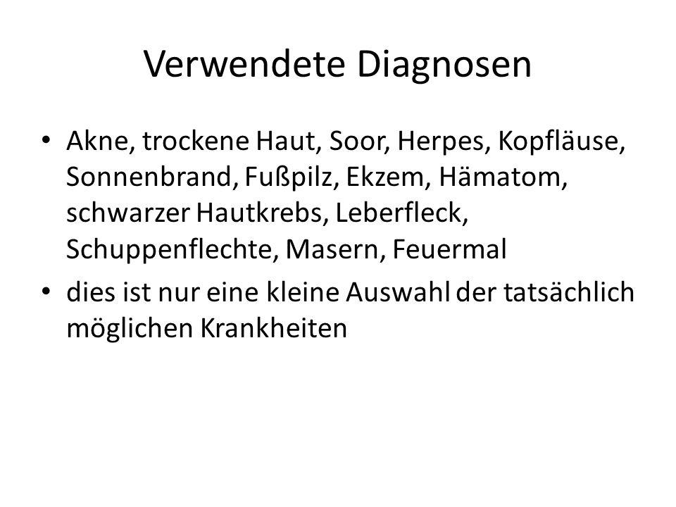 Verwendete Diagnosen