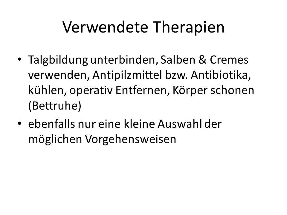 Verwendete Therapien