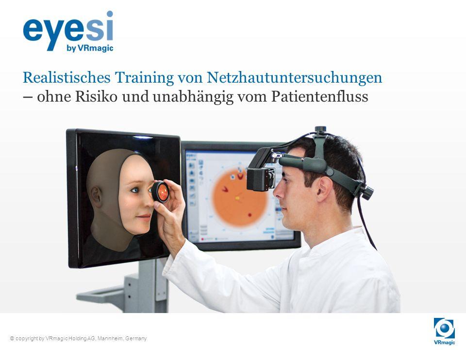 Realistisches Training von Netzhautuntersuchungen