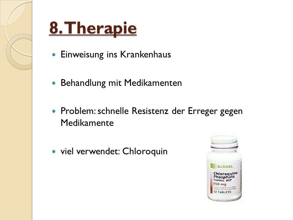 8. Therapie Einweisung ins Krankenhaus Behandlung mit Medikamenten