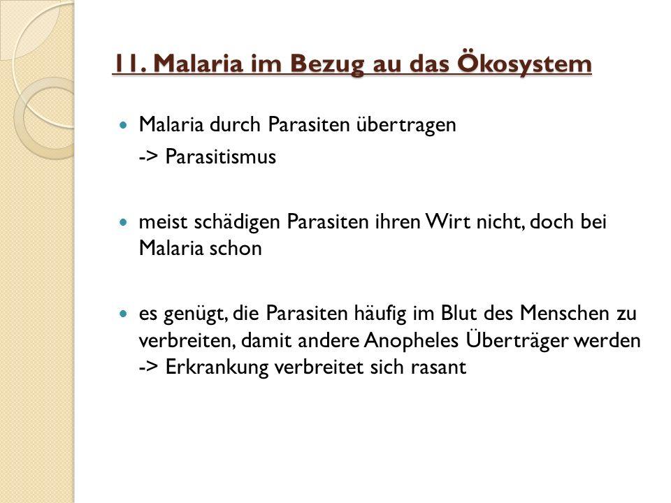 11. Malaria im Bezug au das Ökosystem