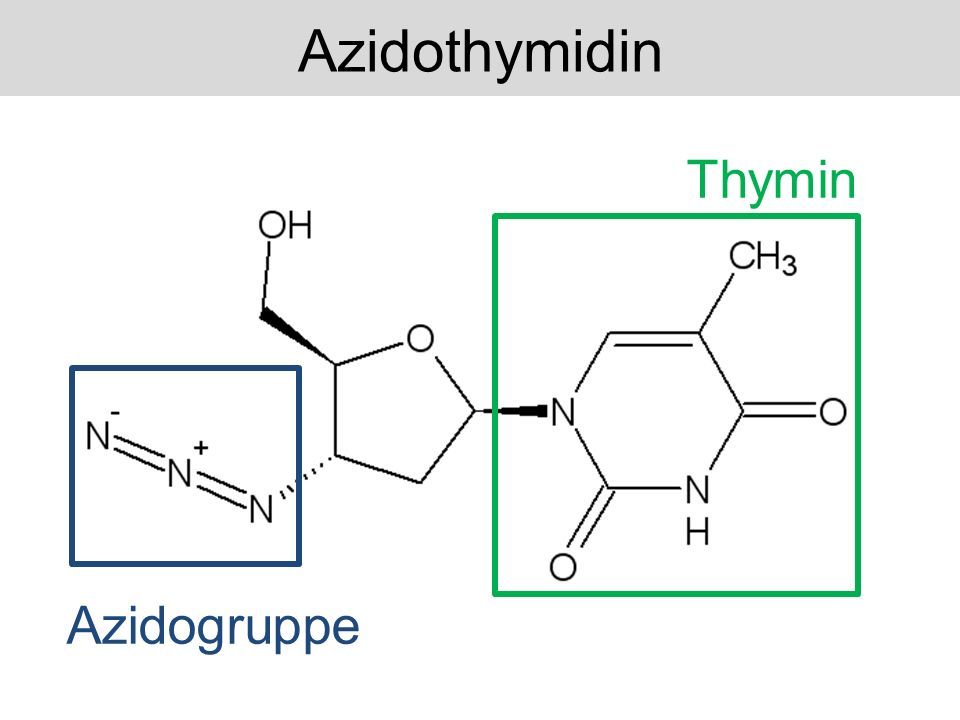 Azidothymidin Thymin Azidogruppe