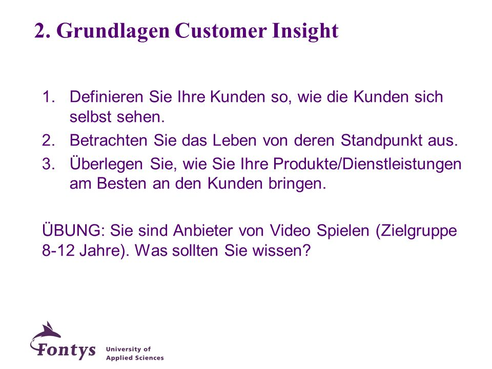 2. Grundlagen Customer Insight