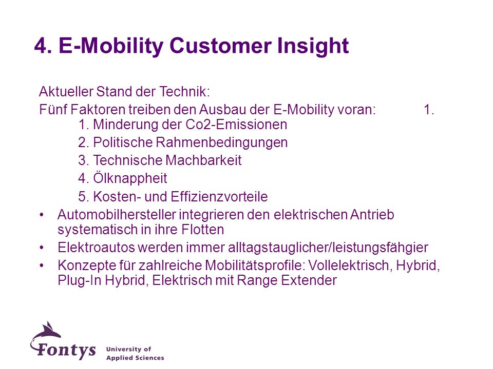 4. E-Mobility Customer Insight