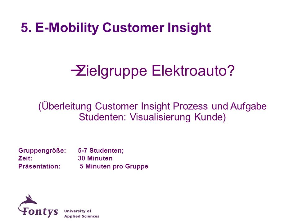 5. E-Mobility Customer Insight