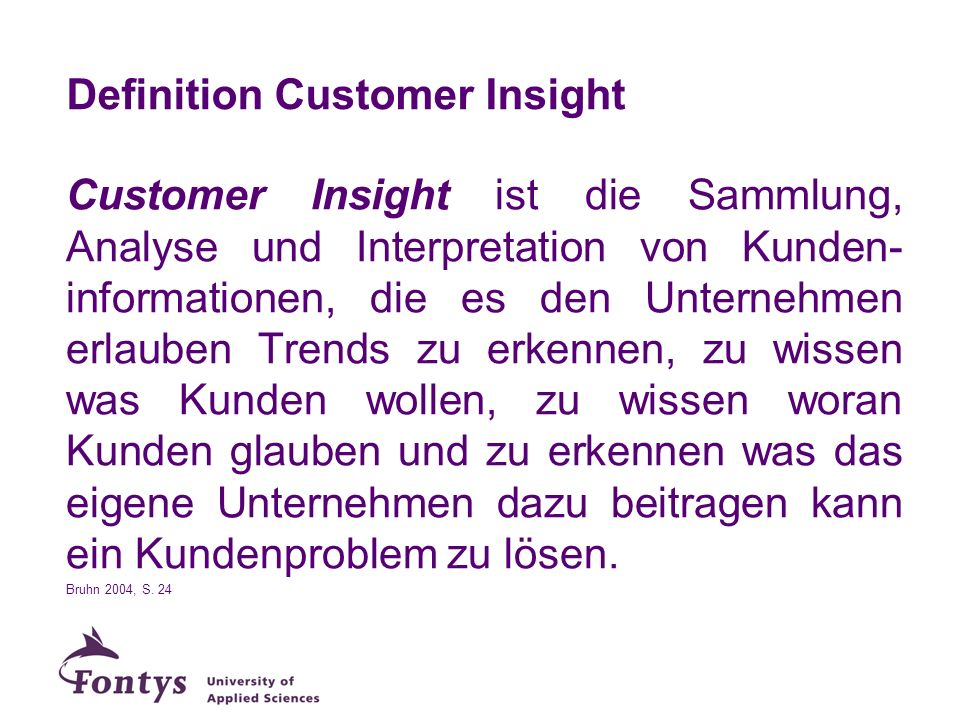 Definition Customer Insight