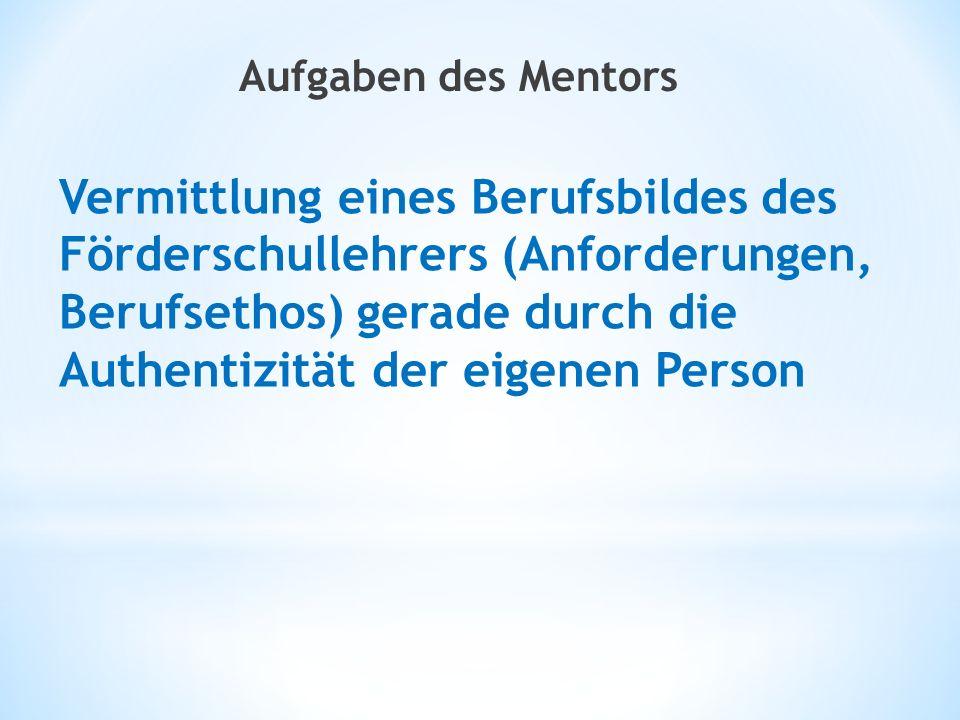 Aufgaben des Mentors