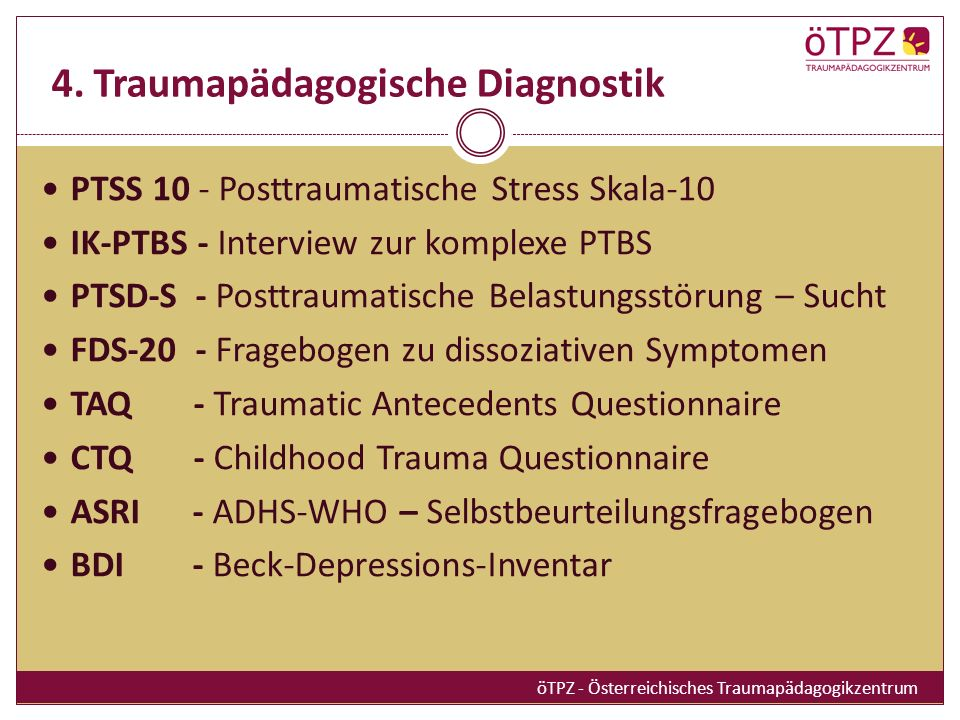 4. Traumapädagogische Diagnostik