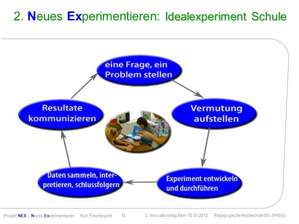 2. Neues Experimentieren: Idealexperiment Schule