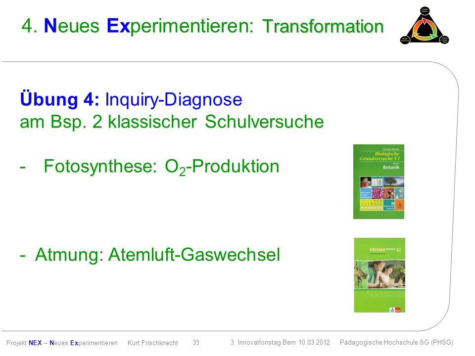 4. Neues Experimentieren: Transformation