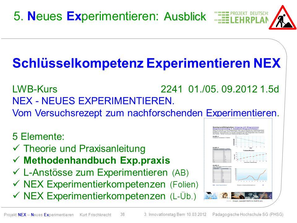 5. Neues Experimentieren: Ausblick