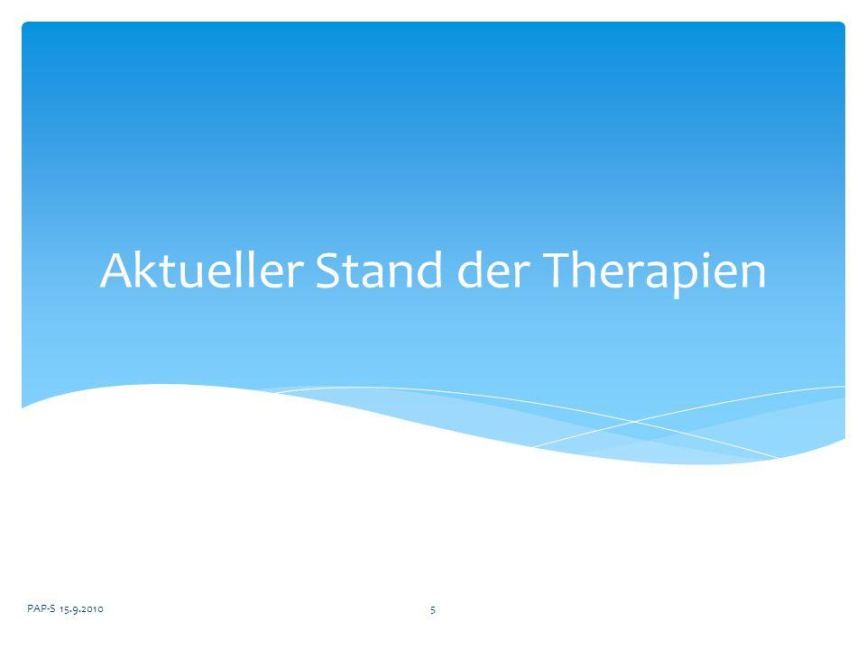 Aktueller Stand der Therapien